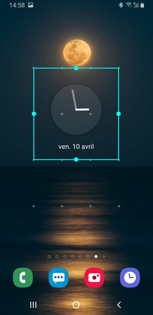 ajout horloge analogique android