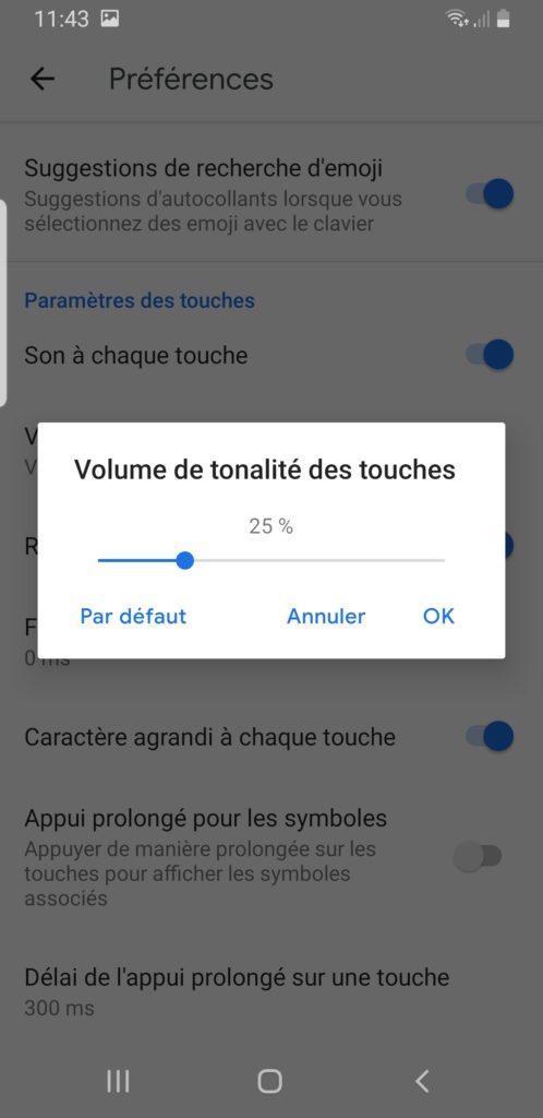activer son touches gboard