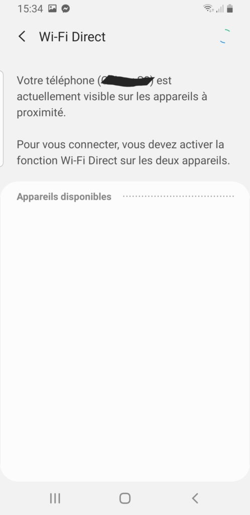 activer wifi direct android