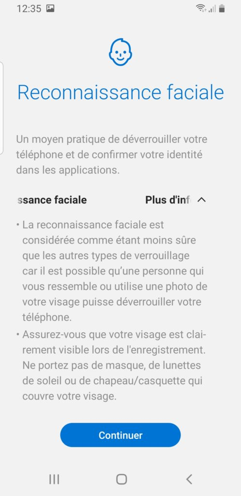 activer reconnaissance faciale android